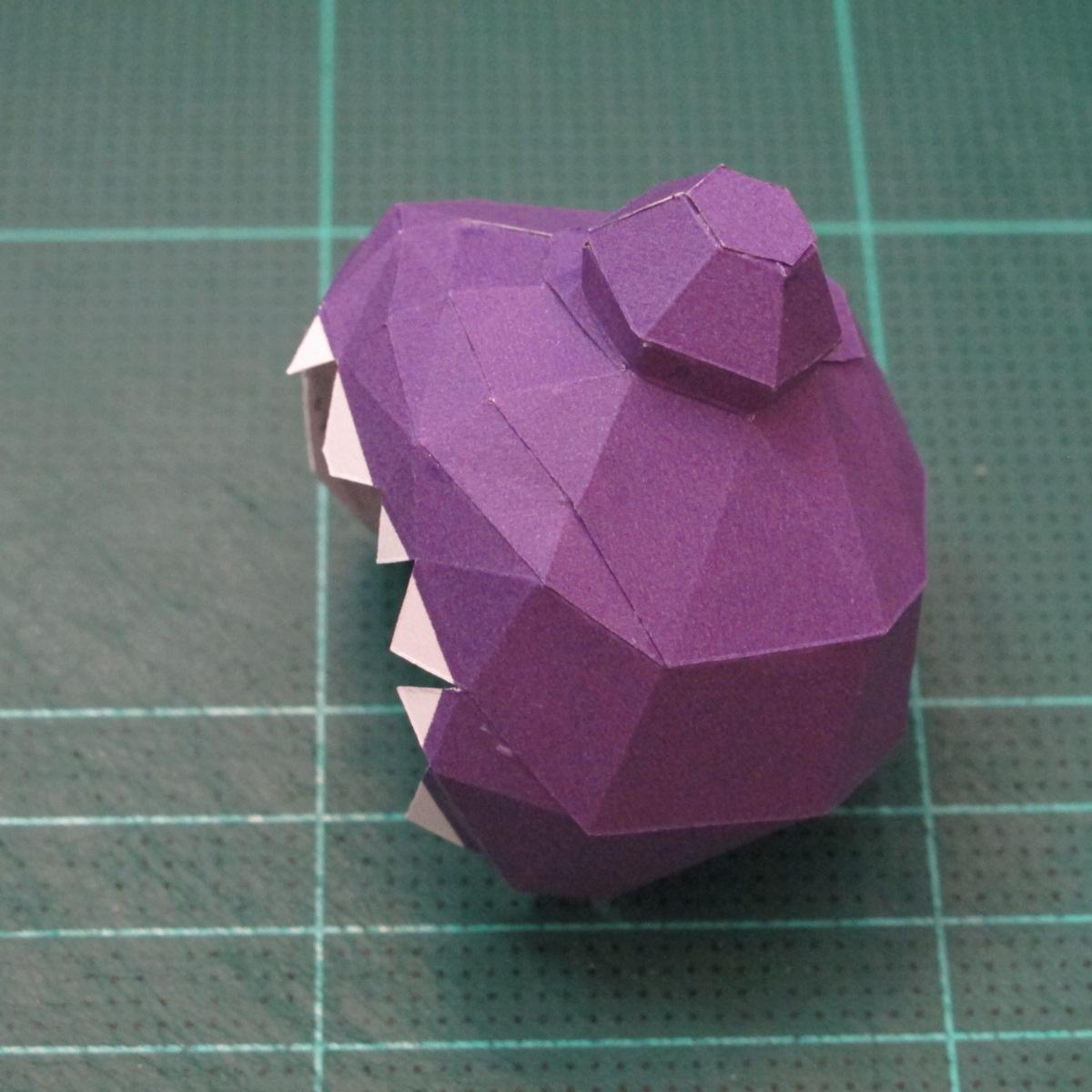 วิธีทำโมเดลกระดาษตุ้กตา คุกกี้รสราชินีสเก็ตลีลา จากเกมส์คุกกี้รัน (LINE Cookie Run Skating Queen Cookie Papercraft Model) 007
