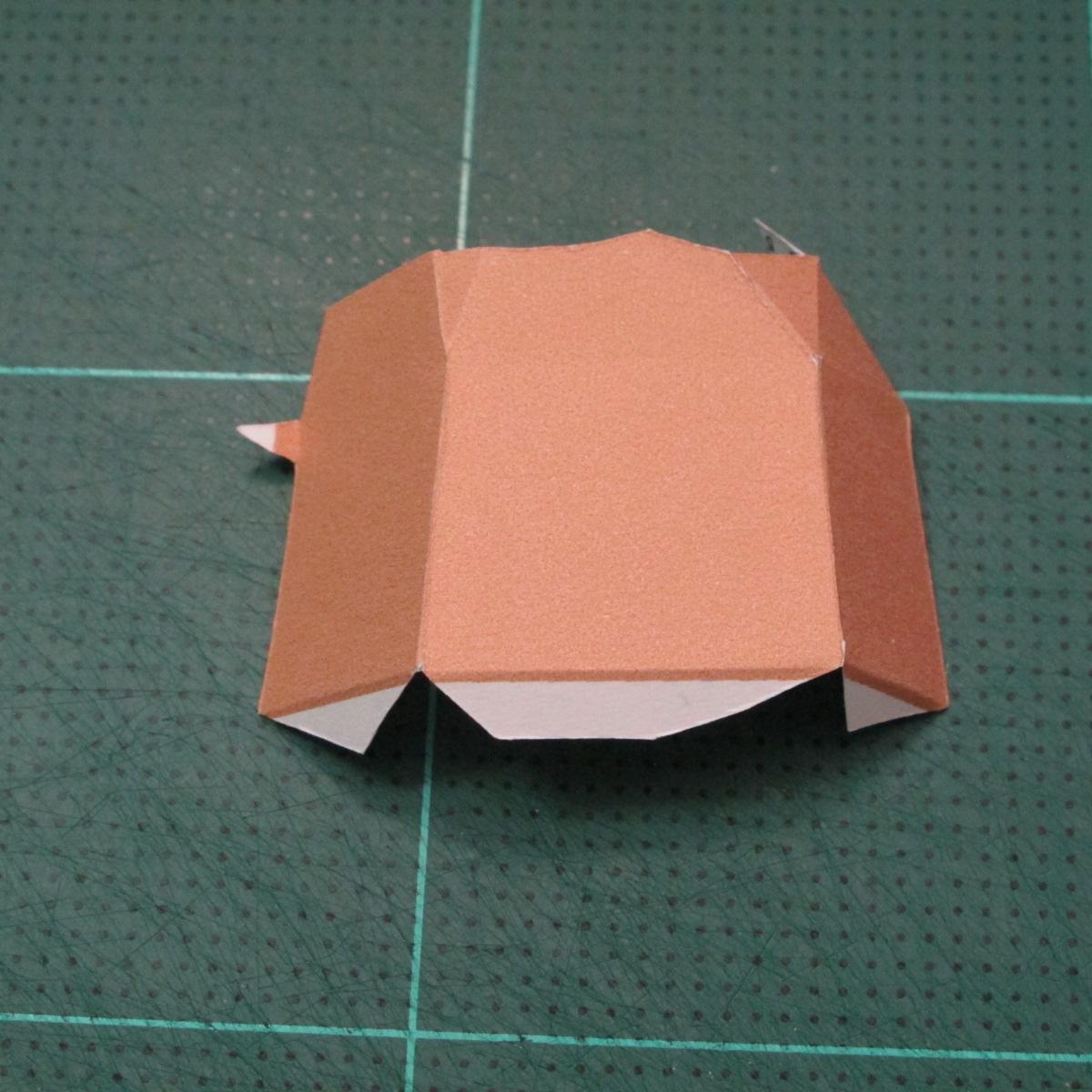 วิธีทำโมเดลกระดาษคุกกี้รสคุกกี้แอนด์ครีม  (Cookie Run Cream Cookie Papercraft Model) 011