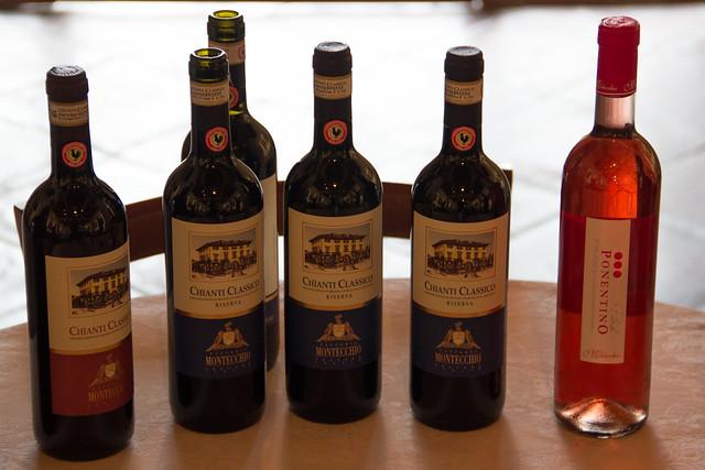 Wine at Villa Montechhio