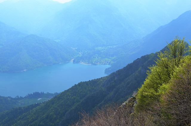 A misty Lake Ledro, Italy