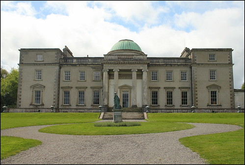 ireland house building statue steps dome mansion fa laois