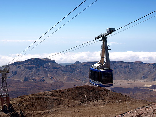 Cable car, Mount Teide