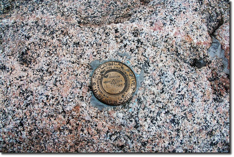 Benchmark on Mount Evans' summit 2