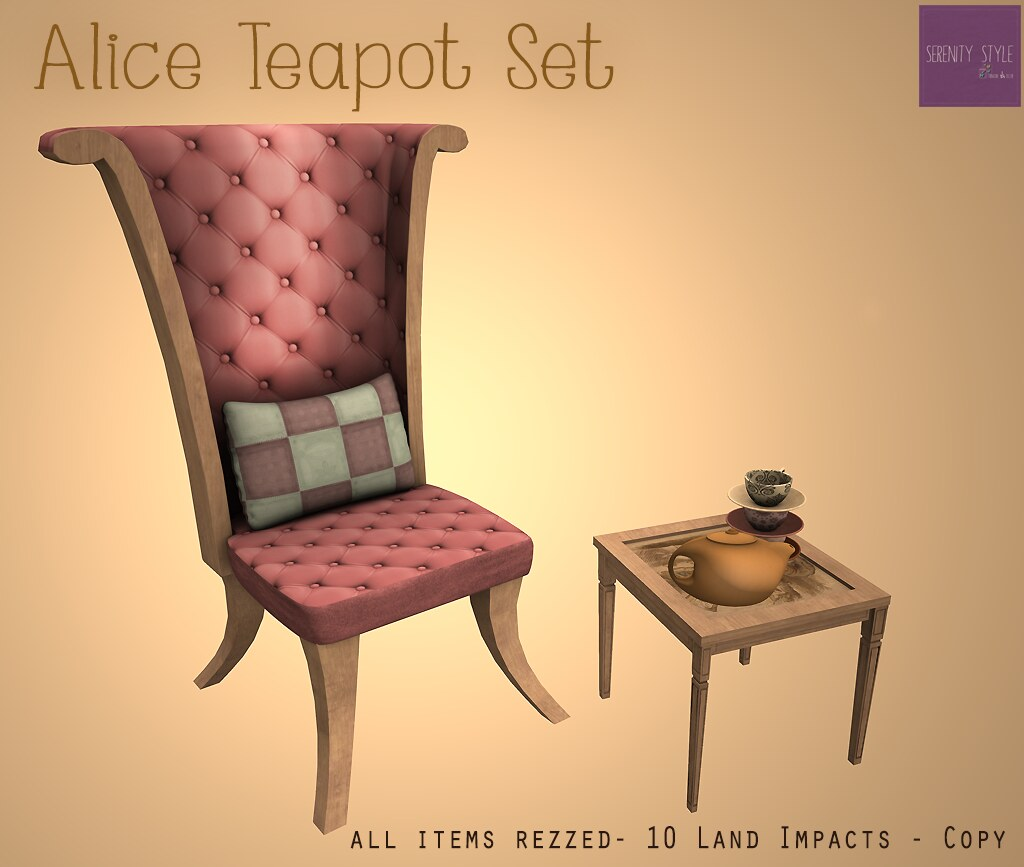 New ! Alice Teapot Set