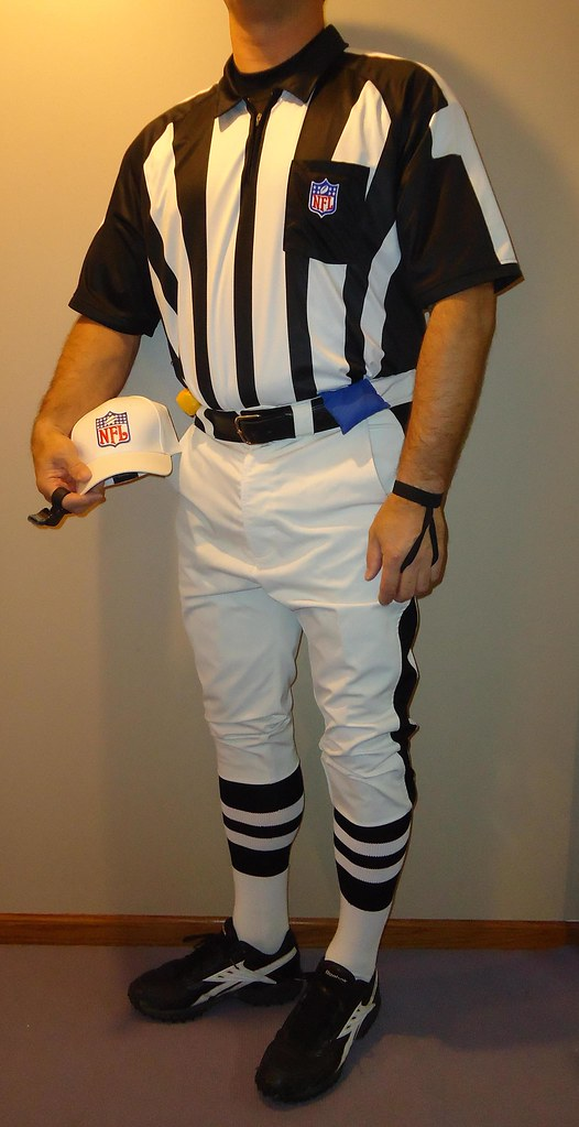 Nfl Referee Uniform Wearing Black Striped Knickers Low Gr Flickr