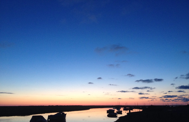Summer night sky over Blakeney Cut