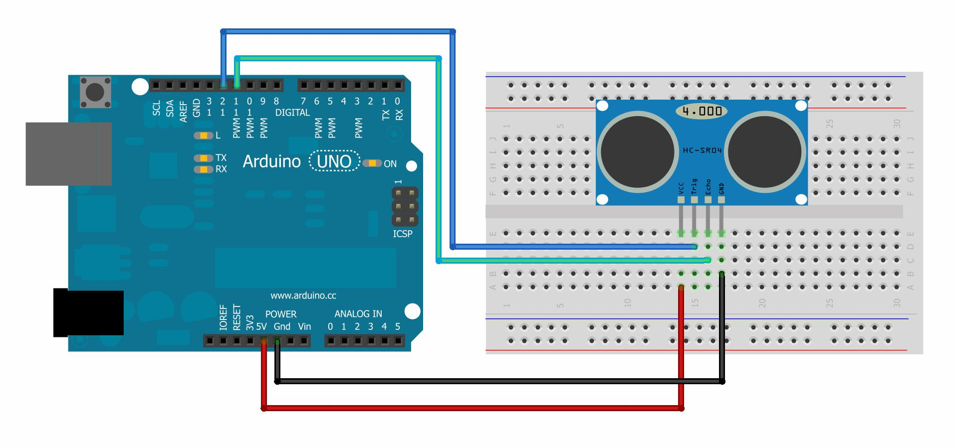 HC-SR04 Ultrasonic Sensor to Measure Distance with Arduino | MakerGarage