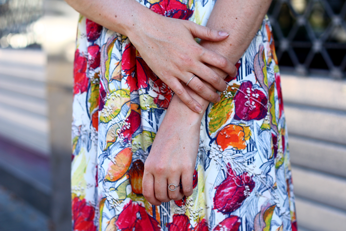 floral fruit print dress & other stories