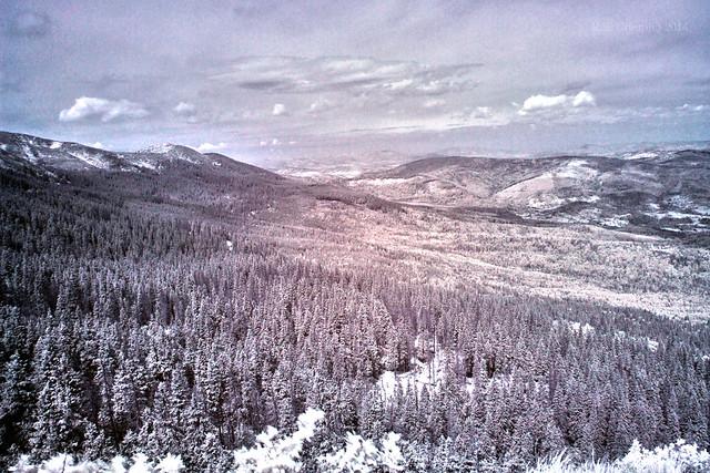 Babia Gora Mountain in infrared