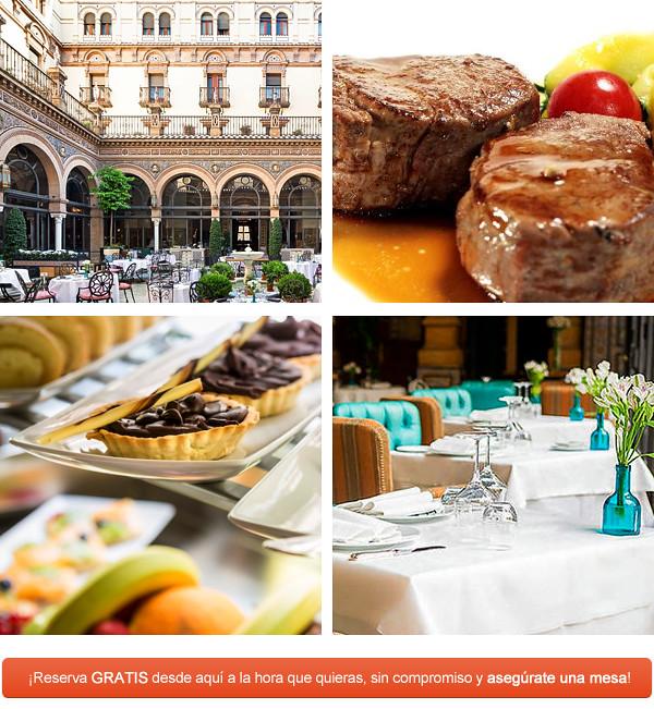 Restaurante San Fernanndo del Hotel Alfonso XIII de Sevilla, uno de los más lujosos