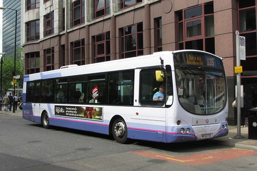 Volvo B7RLE, MX55 FGE, First Greater Manchester, Lever Street, Manchester