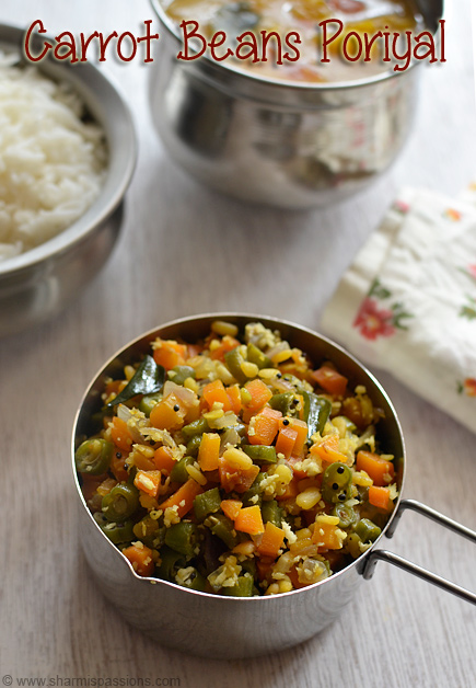 Carrot Beans Poriyal Recipe