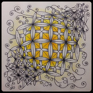 "Zentangle® Inspired Art : Weekly Challenge #175 : UMT Crux : ""Illumination"""