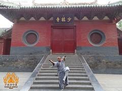 Mon, 07/07/2014 - 16:13 - Indian Kung fu Master Demonstrates Arhat boxing pose at the Shaolin Temple China Shaolin Kung Fu India