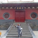 Indian Kung fu Master Demonstrates Arhat boxing pose at the Shaolin Temple China