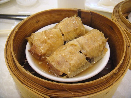 Steamed Yam Roll with Mushroom