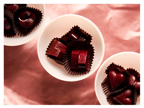 Passion Fruit, Chile, and Sangria Chocolates from Chocolatier Blue