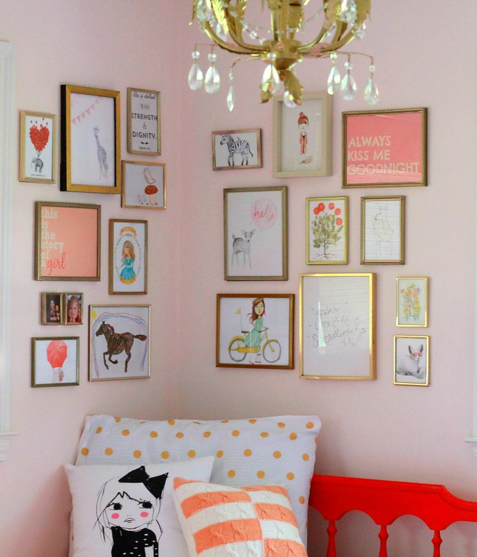 how to hang a corner gallery wall via Kristina J blog