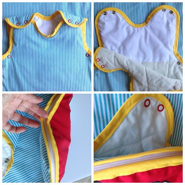 detalles del saco de dormir Mickey