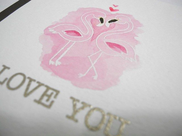 Flirty Flamingos (detail)