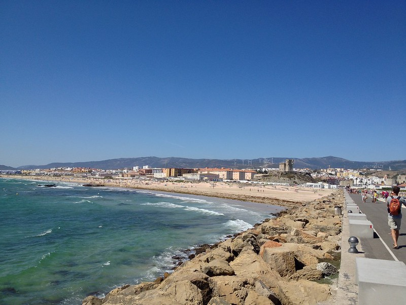View of Tarifa from Isla De Las Palomas