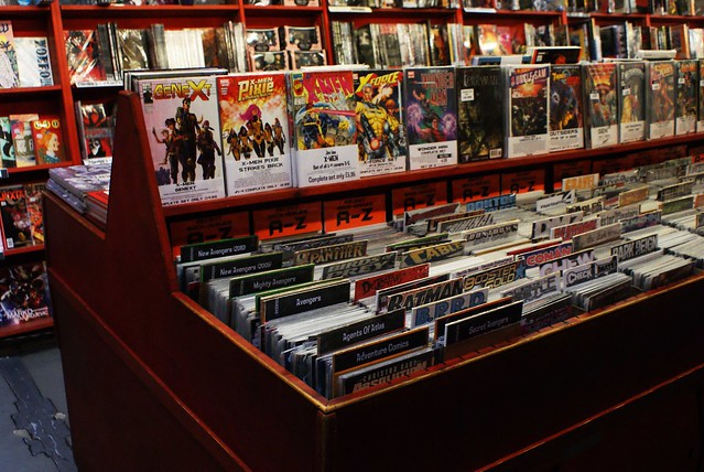 Magasin de BD et comics à Camden town à Londres.
