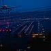Aircraft approaches San Diego Lindbergh Field at Dusk by beltz6