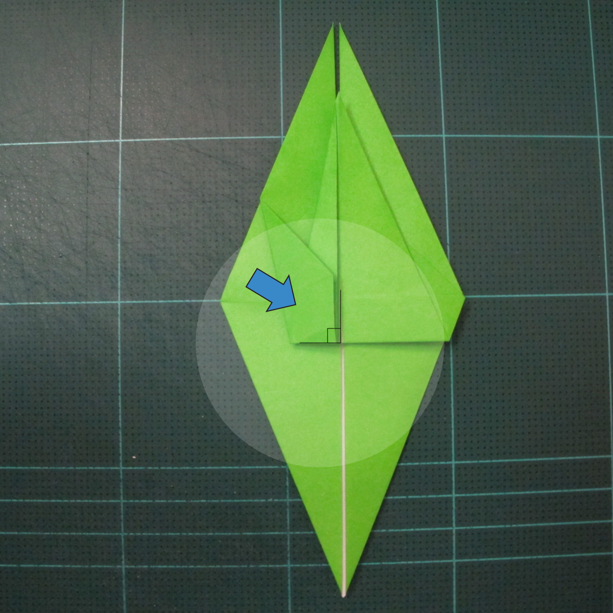 วิธีพับกระดาษเป็นรูปหอยทาก (origami Snail) 009