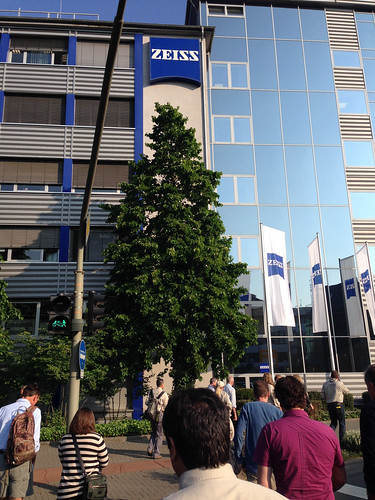 Heading into the Zeiss offices in Wetzlar, Germany