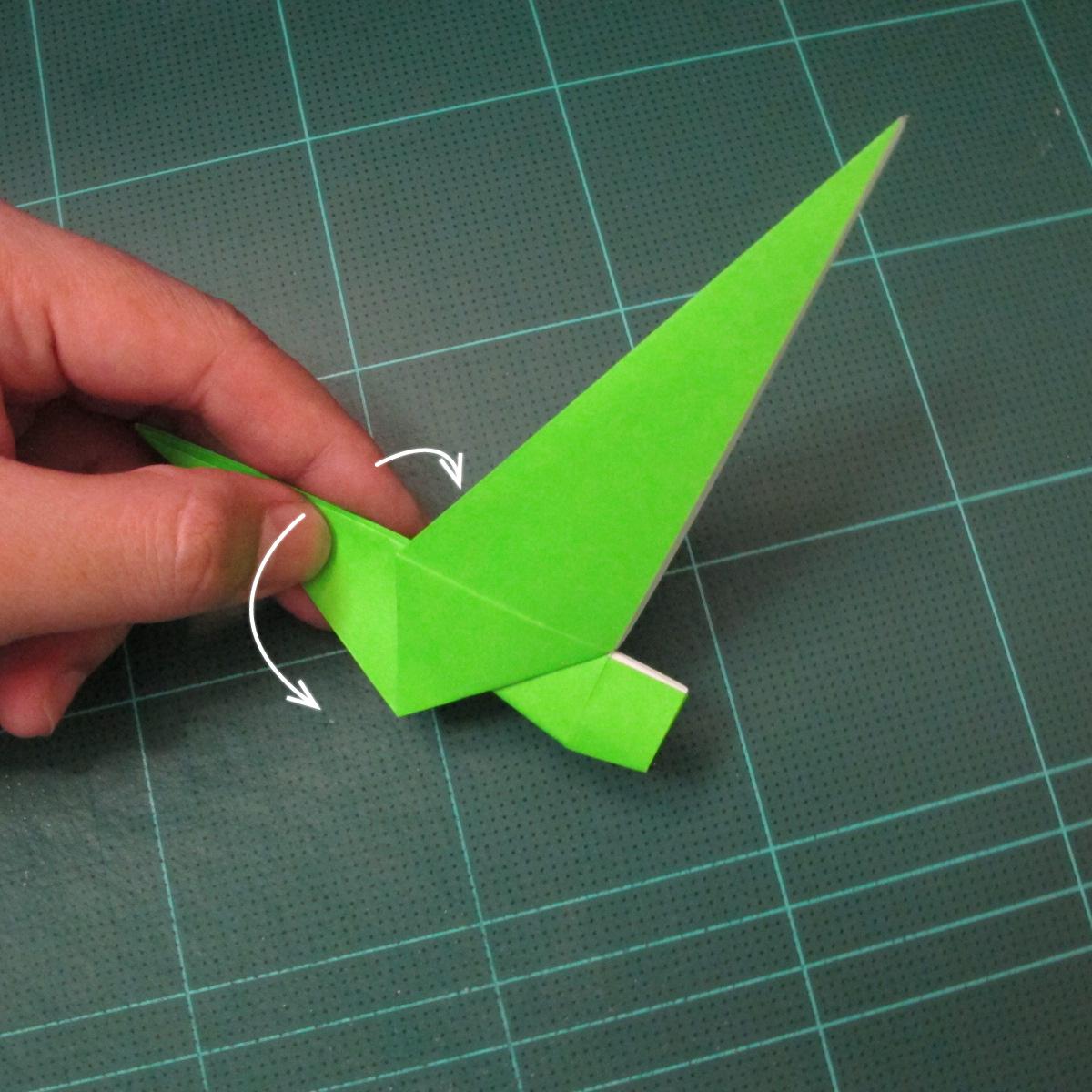 วิธีพับกระดาษเป็นรูปหอยทาก (origami Snail) 014