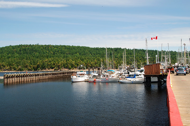 Government Wharf in Ladysmith, Vancouver Island, British Columbia, Canada