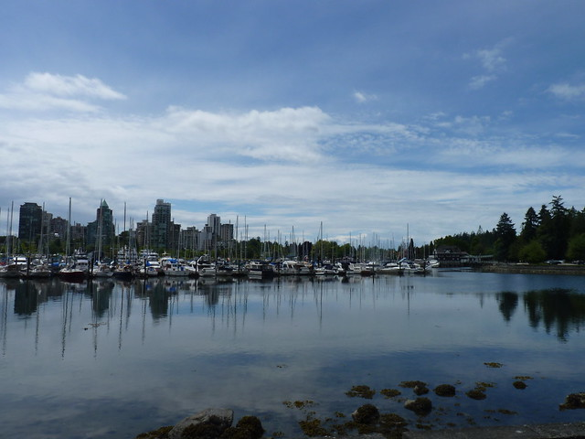 Various angles of Vancouver Skyline - Biketour in Vancouver, British Columbia, Canada