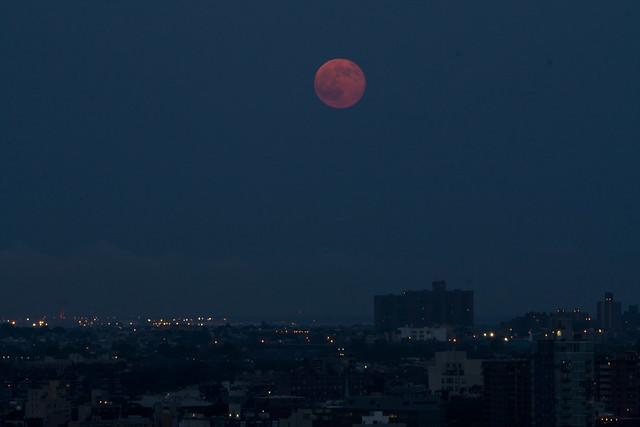 Super Moon Rising over Brooklyn