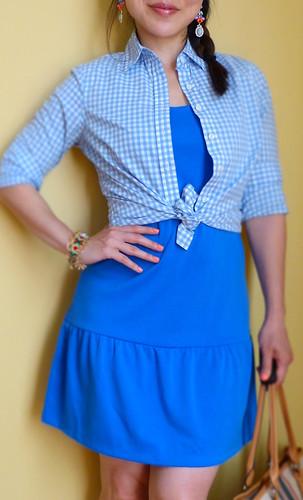 blue drop waist