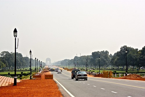 Looking towards India Gate