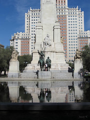 Reflecting the Cervantes Monument
