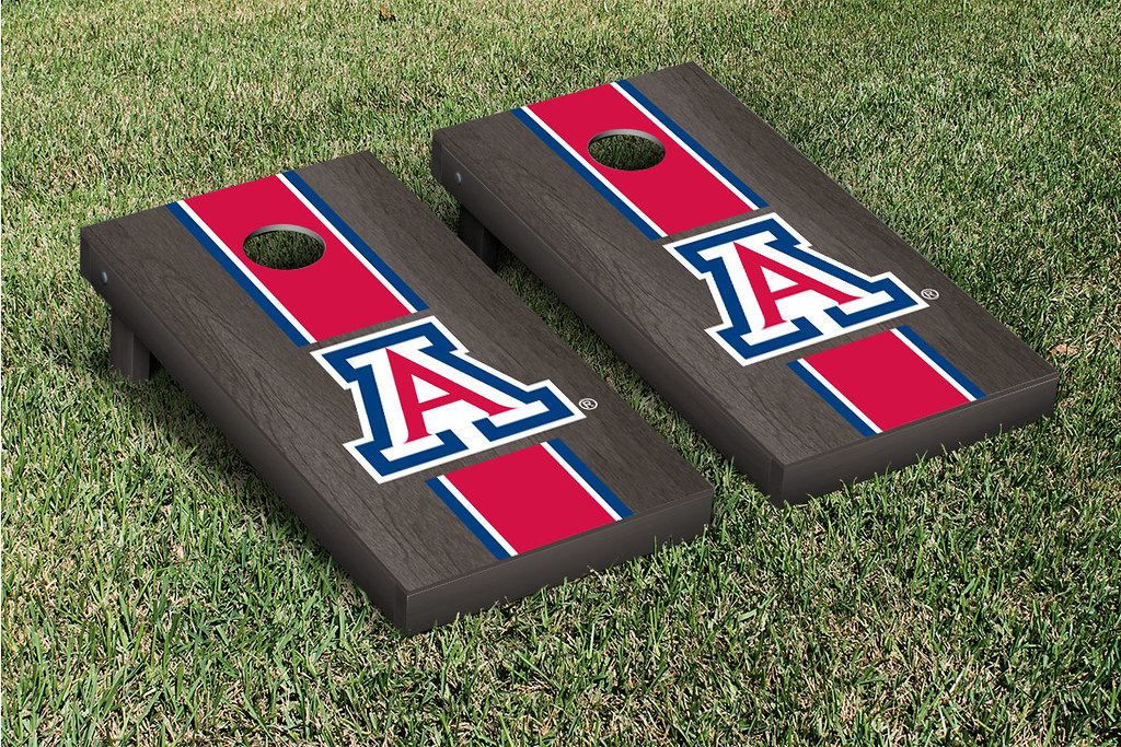 Arizona Wildcats Cornhole Game Set Onyx Stained A Version