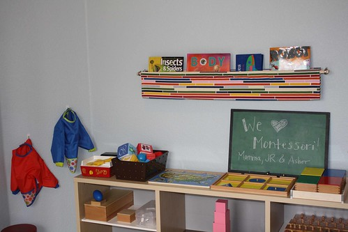 Montessori Homeschool Classroom (Photo from Montessori MOMents)