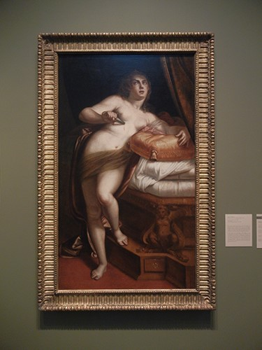 DSCN1351 _ Suicide of Lucretia, c 1565, Luca Cambiaso, Blanton Museum, Austin