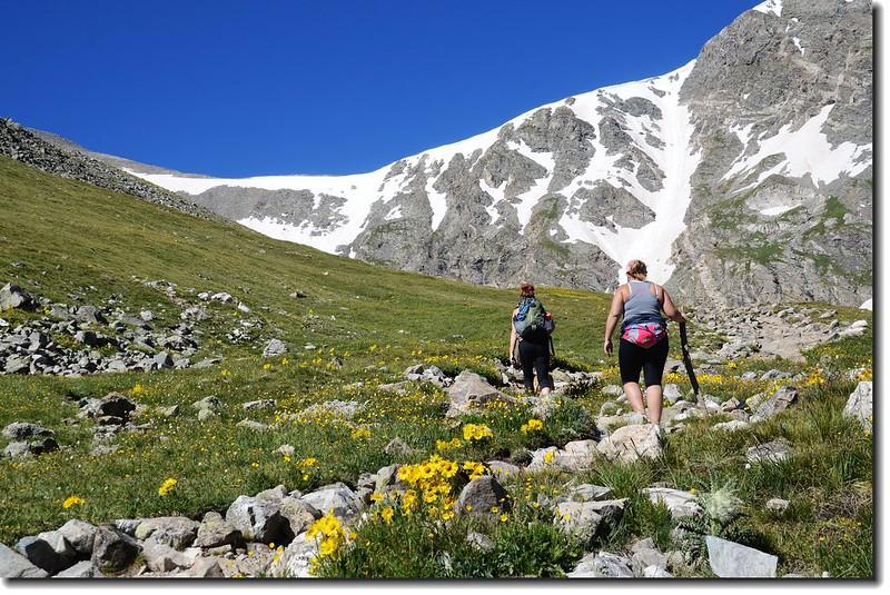 Hikers on their way to Grays Peak 2