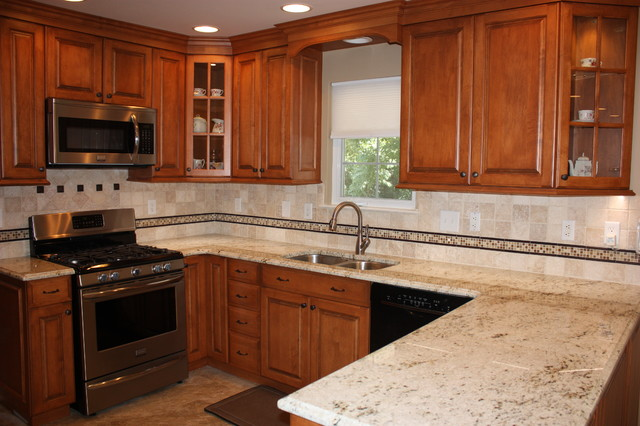 House of granite for Colonial kitchen cabinet ideas