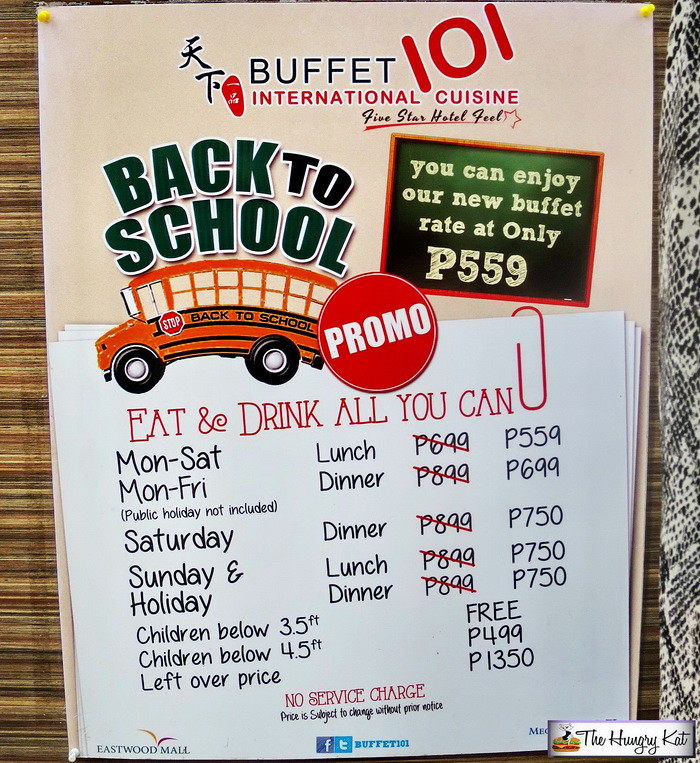 the hungry kat — back to school promo at buffet 101 eastwood