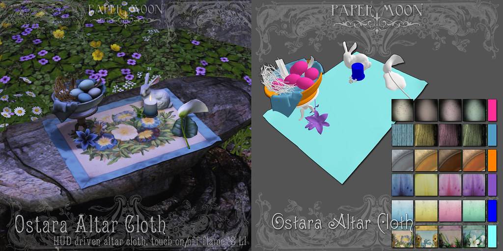 *pm* Ostara Altar Cloth - SecondLifeHub.com