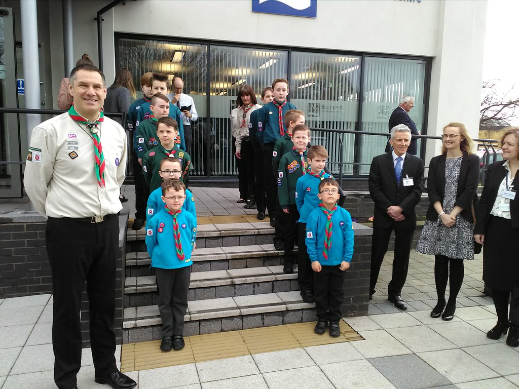16th Morecambe & Heysham Scouts at the Bay Gateway launch