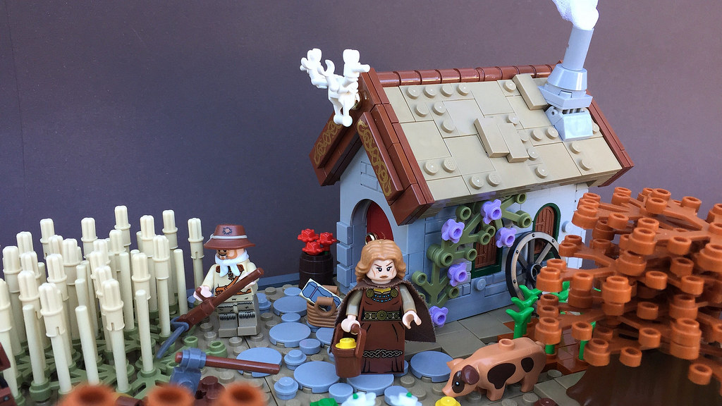 The farmer and his wife (custom built Lego model)