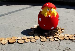 Easter egg at city square