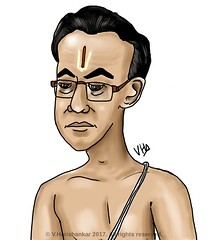 Portrait caricature of Iyengar/brahmin