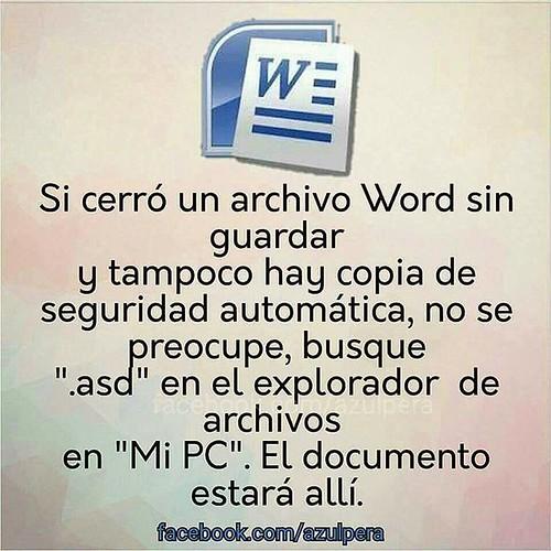 Consejos Word #InstitutoTALADRIZ #tecnotaladriz