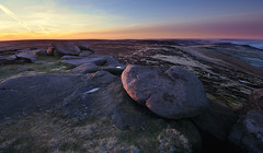 First Light at Stanage Edge