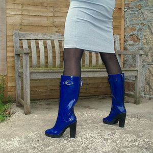 Angi rubber-boots en Niagara blanche 1
